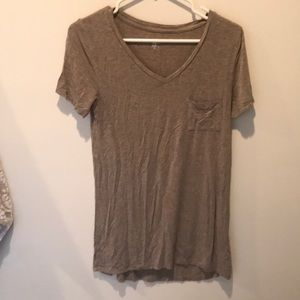 Tops - Heather Brown Mossimo T - Shirt